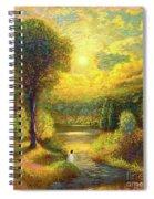 Golden Peace Spiral Notebook