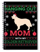 Golden Retriever Ugly Christmas Sweater Xmas Gift Spiral Notebook
