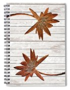 Golden Water Lily Duo Spiral Notebook