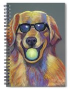Golden With Ball Spiral Notebook