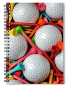 Golf Balls And Colorful Tees Spiral Notebook