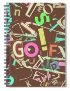 Golfing Print Press Spiral Notebook