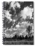 Good Harbor Shoreline Black And White Spiral Notebook