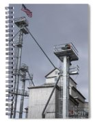 Grain And Feed Silos Bethel Vermont Spiral Notebook