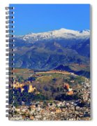 Granada, The Alhambra And Sierra Nevada From The Air Spiral Notebook