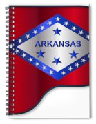 Grand Piano Arkansas Flag Spiral Notebook