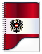 Grand Piano Austrian Flag Spiral Notebook