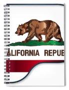 Grand Piano California Flag Spiral Notebook