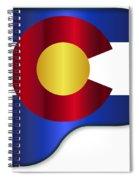 Grand Piano Colorado Flag Spiral Notebook