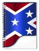 Grand Piano Confederate Flag Spiral Notebook