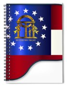 Grand Piano Georgia Flag Spiral Notebook