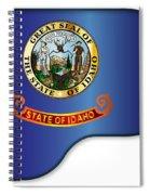 Grand Piano Idaho Flag Spiral Notebook