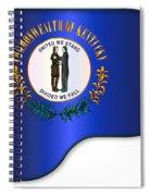 Grand Piano Kentucky Flag Spiral Notebook