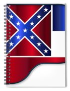 Grand Piano Mississippi Flag Spiral Notebook