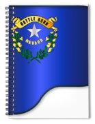Grand Piano Nevada Flag Spiral Notebook