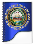 Grand Piano New Hampshire Flag Spiral Notebook