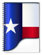 Grand Piano Texas Flag Spiral Notebook