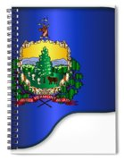 Grand Vermont Flag Spiral Notebook
