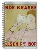 Grande Brasserie, 1894 Belgian Vintage Brewery Poster Spiral Notebook