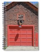 Grantham Barn With Quilt Squares Spiral Notebook