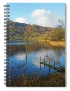 Grasmere In Late Autumn In Lake District National Park Cumbria Spiral Notebook