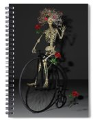 Grateful Penny Farthing Skeleton Spiral Notebook