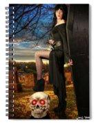 Grave Sunset Spiral Notebook