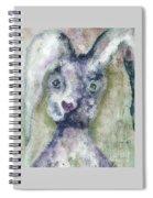 Gray Bunny Love Spiral Notebook