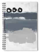 Grayscale 1- Abstract Art By Linda Woods Spiral Notebook