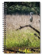 Great Blue Heron On A Snag Spiral Notebook