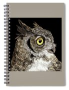 Great-horned Owl Spiral Notebook