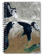Great Lakes In Winter Spiral Notebook