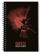 Greece Radiant Map 3 Spiral Notebook