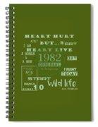 Green 1982 Original Spiral Notebook
