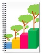 Green Economy Investment Concept Spiral Notebook