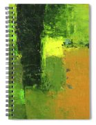 Green Envy Abstract Painting Spiral Notebook