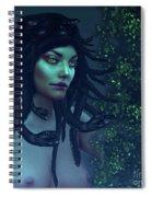 Green Eyed Medusa Spiral Notebook