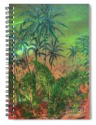 Green Of The Night Spiral Notebook