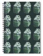 Green Present Pattern Spiral Notebook