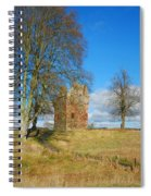 Greenknowe Tower In Winter Sun, Scottish Borders Spiral Notebook