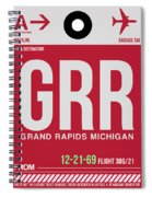 Grr Grand Rapids Luggage Tag II Spiral Notebook