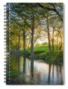 Guadalupe River Sunset Spiral Notebook