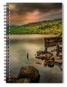 Gwynant Lake Old Boat House Spiral Notebook