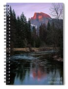 Half Dome Reflection Over Merced River At Sunset, Yosemite National Park  Spiral Notebook
