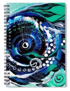 Half Smile Break The Ice Fish Spiral Notebook