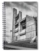 Halifax Explosion Memorial Bell Tower Bw Spiral Notebook