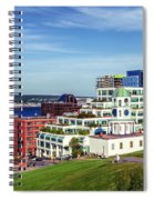 Halifax Town Clock And Halifax Skyline Spiral Notebook
