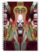 Halloween Scary Clown Heads Mirrored Spiral Notebook