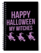 Halloween Shirt Happy Halloween Witches Gift Tee Spiral Notebook