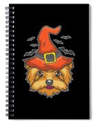 Halloween Shirt Witch Yorkshire Dog Costume Gift  Spiral Notebook